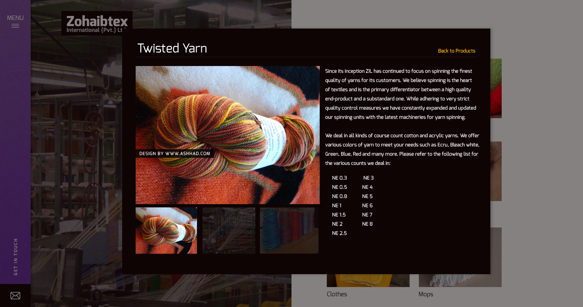 website design for textile company in karachi pakistan